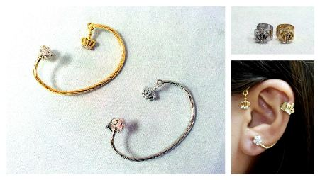 Ear Cuff Coroa e Wrap_Candy Bijoux